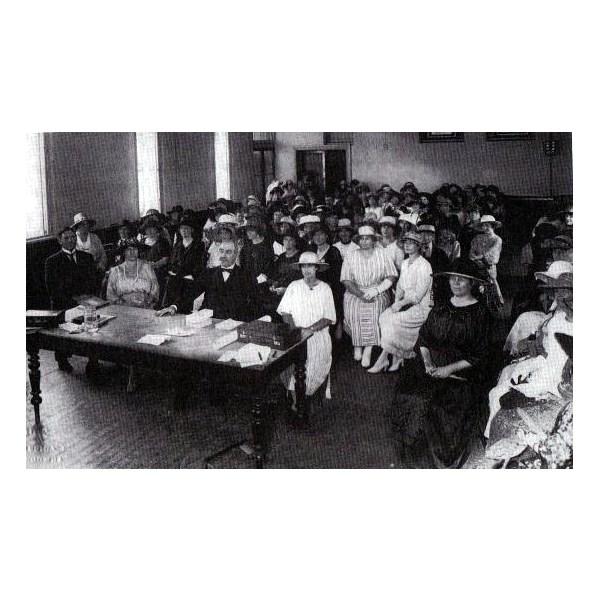 The first meeting of QCWA at Brisbane Women's Club