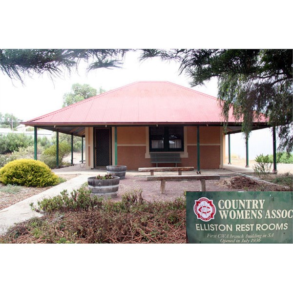 CWA building at Elliston, First Branch Building in SA (1936).