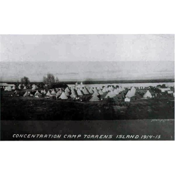 The camp, Torrens Island internment camp