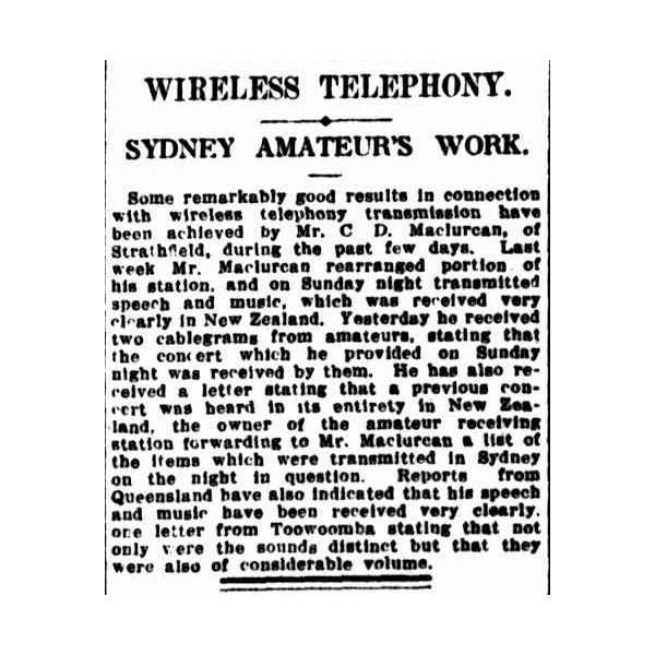 Sydney Morning Herald, May 31 1923