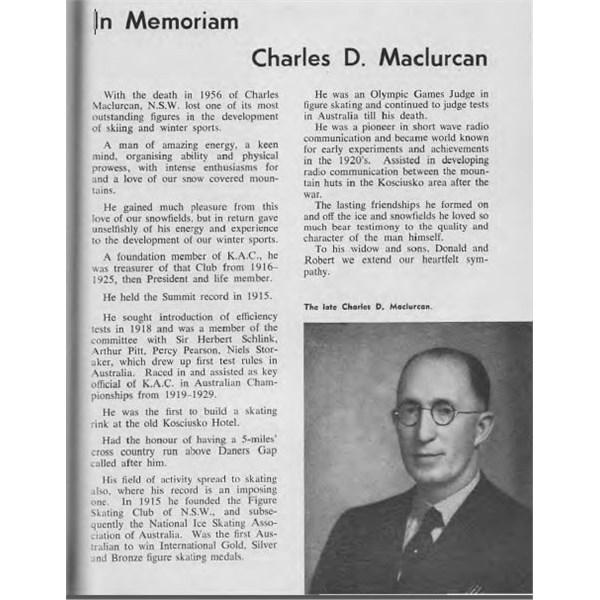 In Memoriam. Charles D. Maclurcan