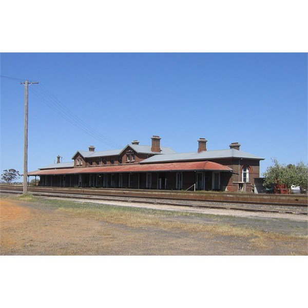 Serviceton railway station in the formerly-disputed territory