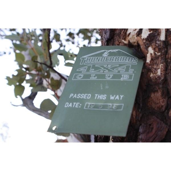 Thunderbirds Plaque at Mount Hughes