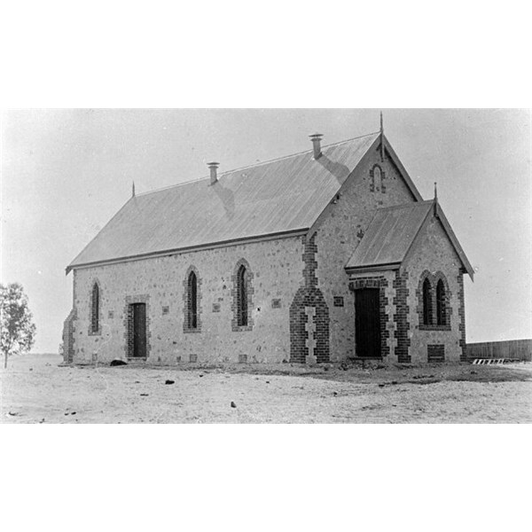 The Hopetoun Baptist church, built by locals