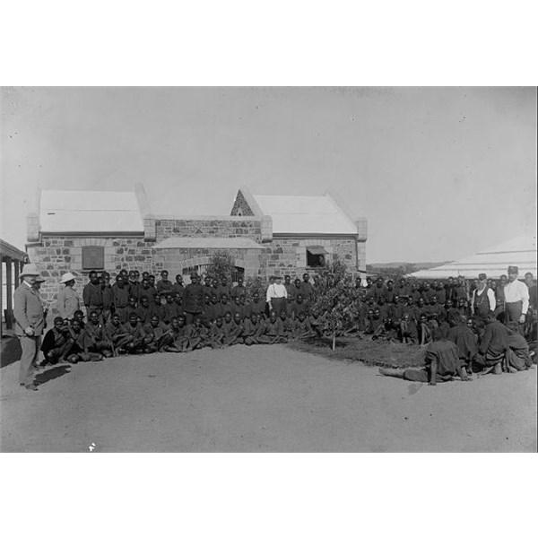 Aboriginal prisoners, Roebourne Gaol, 1900-1910