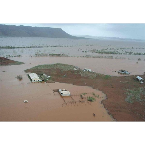 View of the old Cooya Pooya homestead near the Harding River Dam, south of Roebourne Tropical Cyclone Monty March 2004