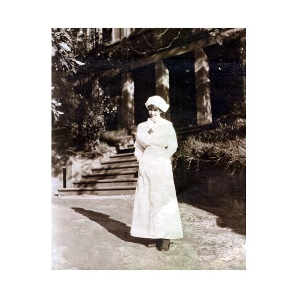 Olive Pink in Red Cross uniform, April 1916