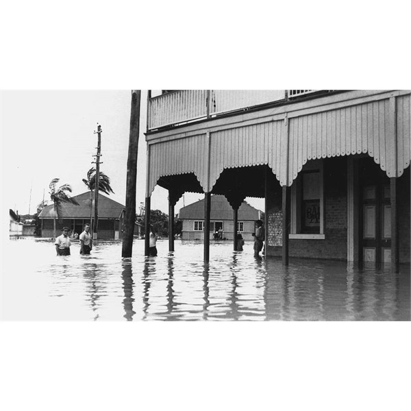 Flooded Hotel Townsville 1946