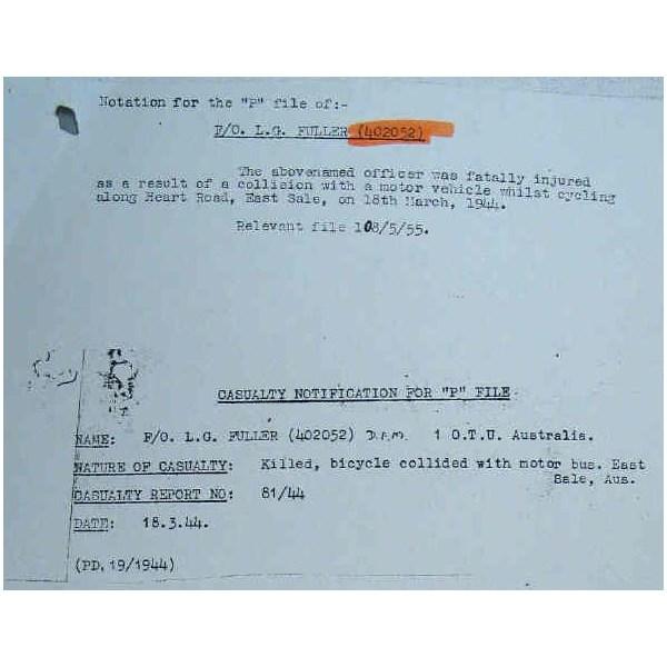 Fuller's Death Notification