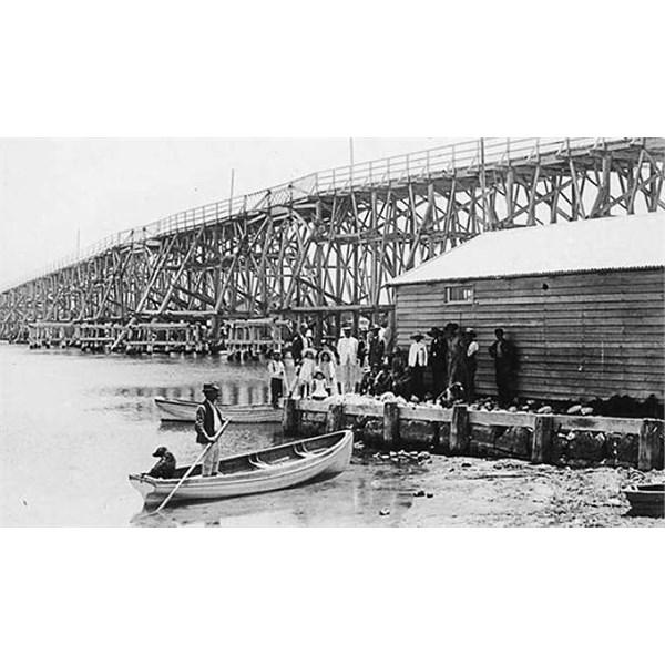 North Fremantle Bridge circa 1890.