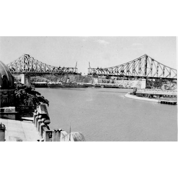 almost completed Story Bridge over the Brisbane River, ca. 1939