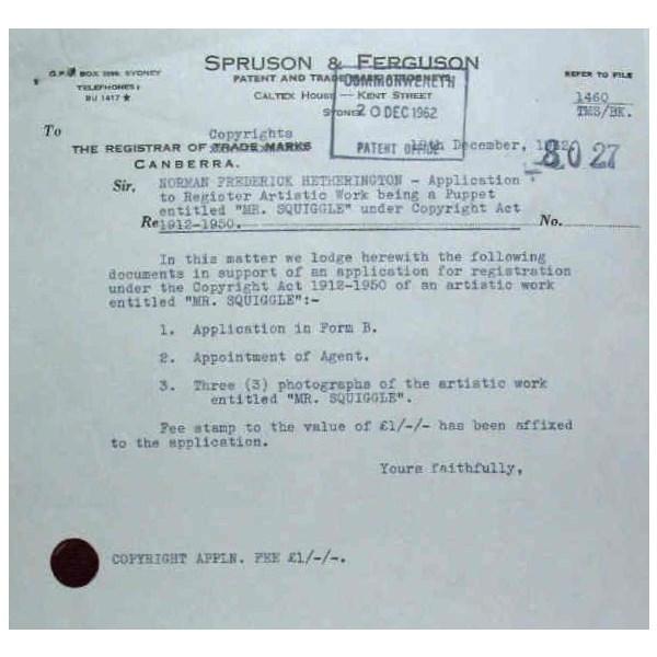 Norman Hetherington's 1962 application 2nd Dec, 1962