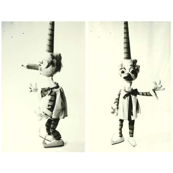 Photographs of the original Mr. Squiggle  model, as submitted for Copyright