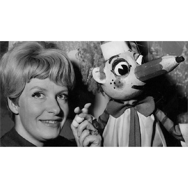 Patricia Lovell and Mr Squiggle
