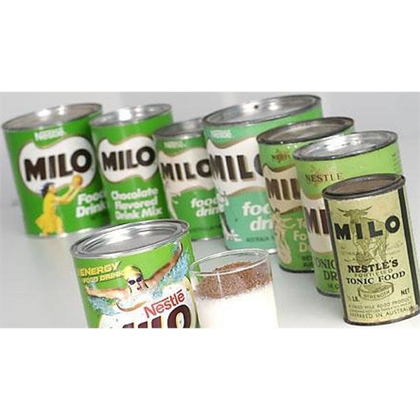 Milo over the years has stayed fairly close to its original branding