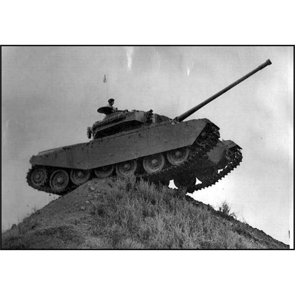 One of the first tanks to come to Puckapunyal in the early 1950's on the knife edge