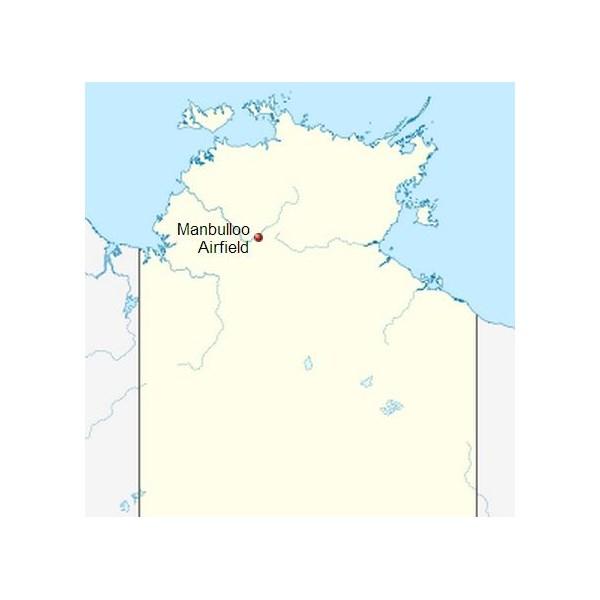 Manbulloo Airfield location