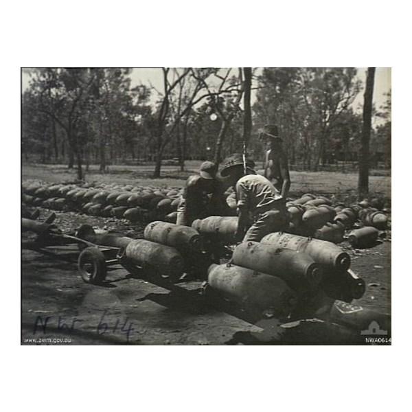 Bomb storage at Manbulloo, NT. September 1944