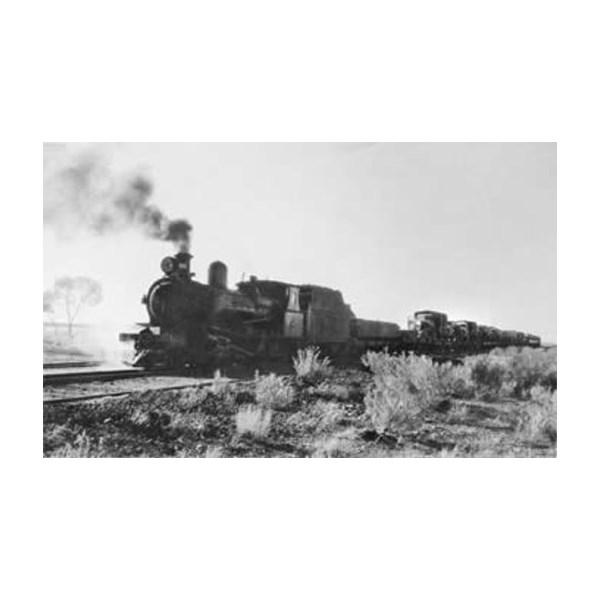 Troop train near Oodnadatta, May 1942