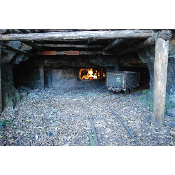 Mine Tunnels on display