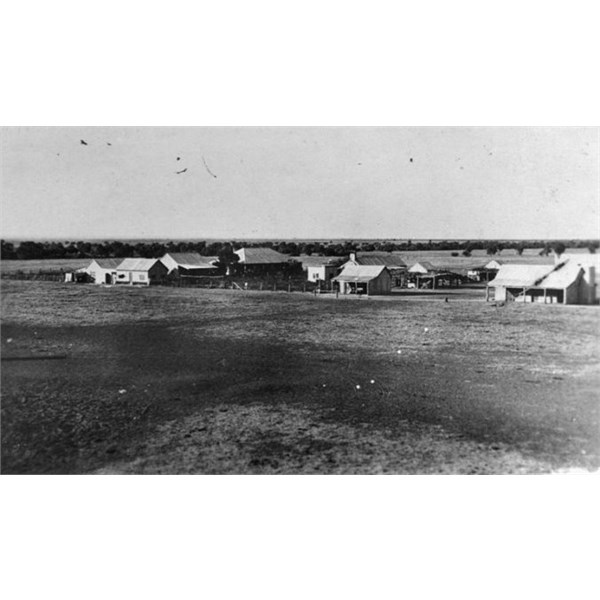 Alexandria Station, homestead and outbuildings.  1921