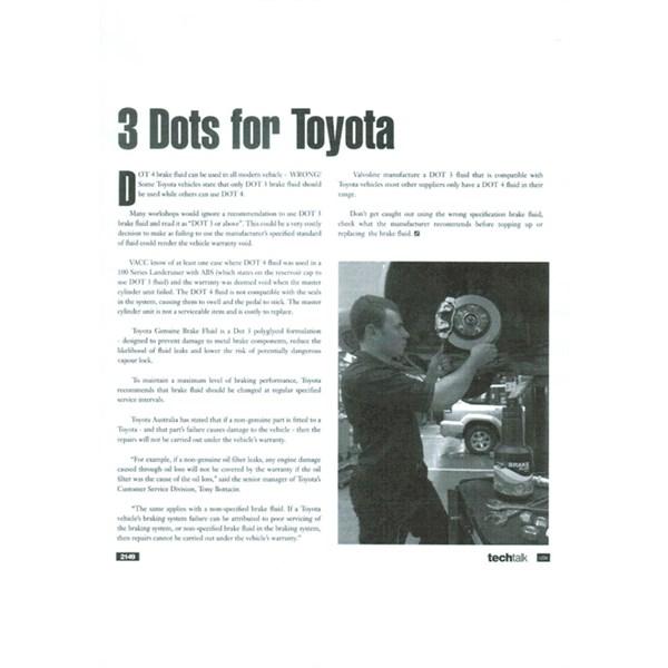 DOT 3 brake fluid for Toyotas