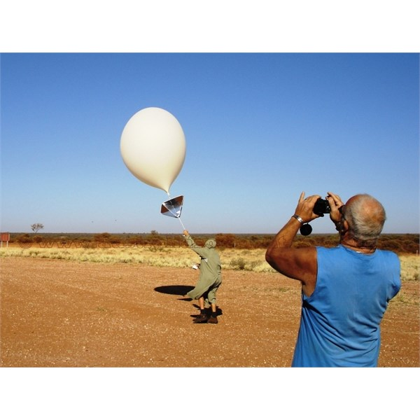 Giles weather balloon release