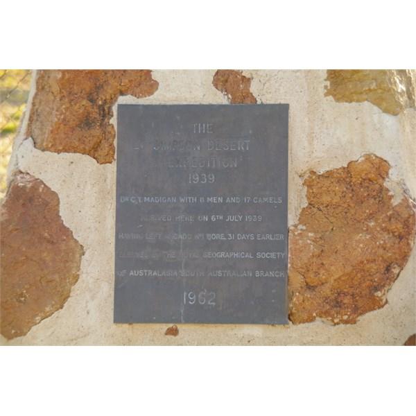 Madigan plaque, Birdsville