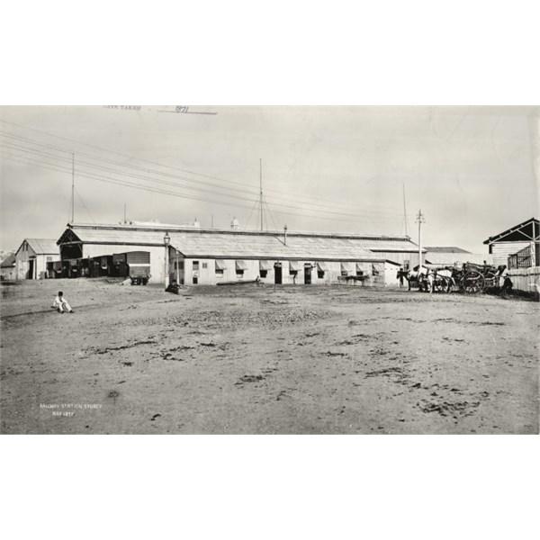First Sydney Railway Station, 1871.
