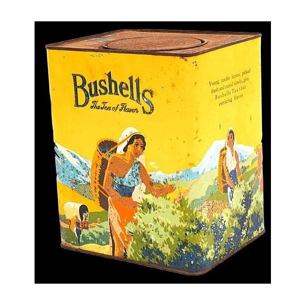 large Bushell's tea yellow tea tin