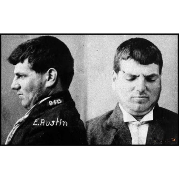 Prison mugshot of Ernest Austin 1913