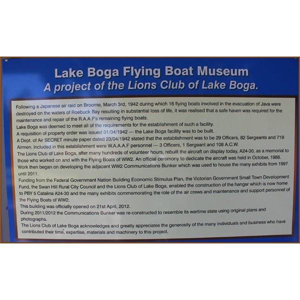 Lake Boga Flying Boat Museum Info