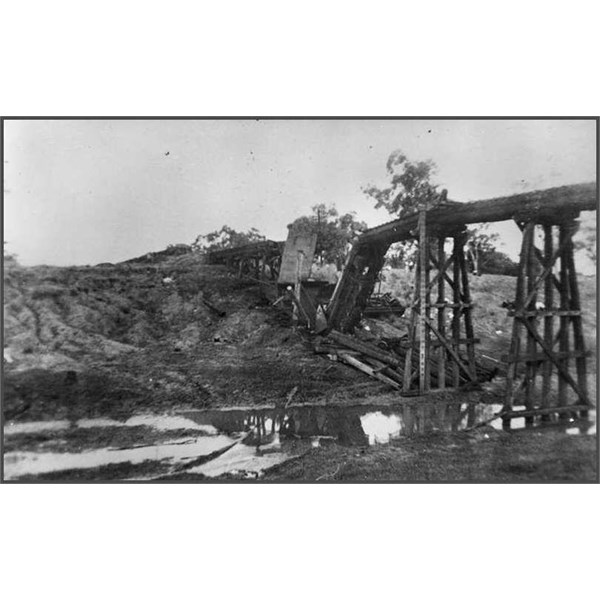 Railway accident at Alpha Creek, 1941