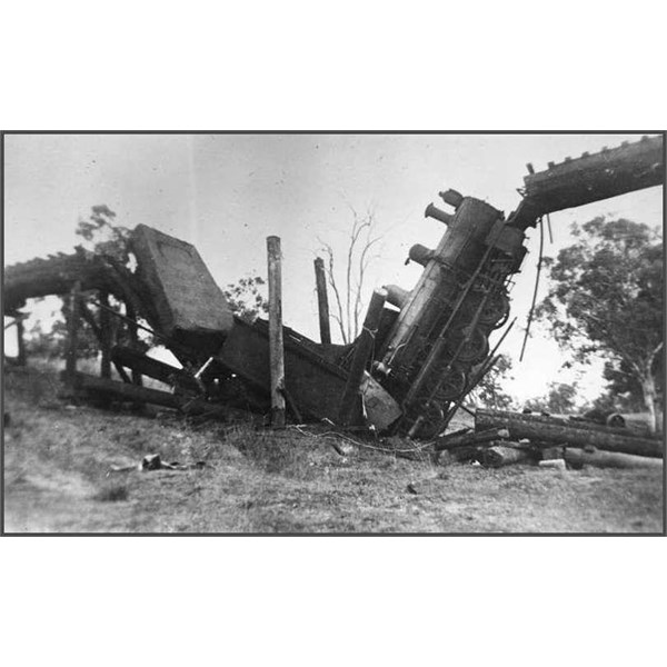 Train accident at Alpha Creek, 1941