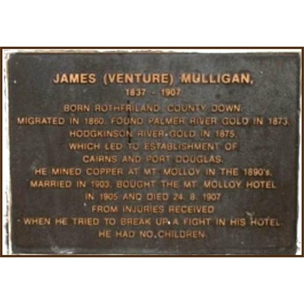 James Venture Mulligan's Plaque