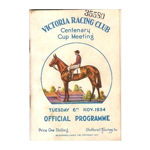 1934 VRC Melbourne Cup racebook