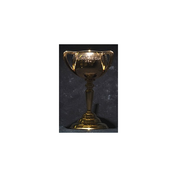 The 1934 Melbourne Cup, an 18ct gold, won by Peter Pan