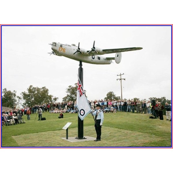 RAAF Ensign at the B-24 replica on the pole at the Golf Course, Tocumwal