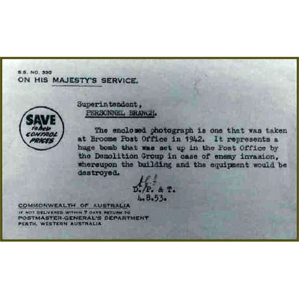 Telegram about the Demolition Bomb