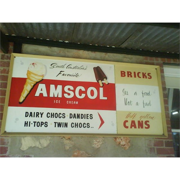 This ad is in the Loxton historical village,