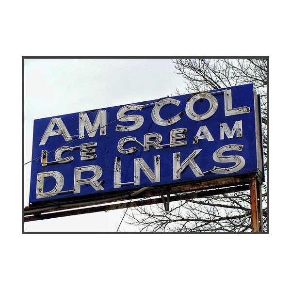 Amscol Ice Cream Sign at Handorf