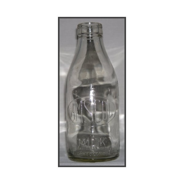 Amscol milk bottle