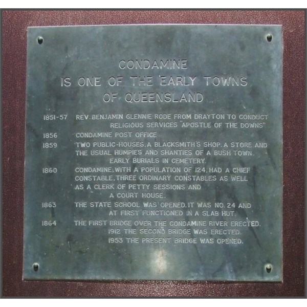 Plaque on The big Condamine Bell - top