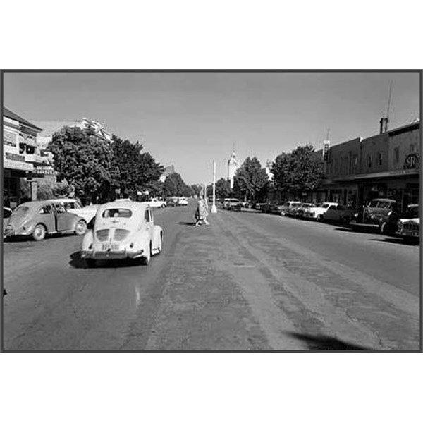 Main street of Young, 1960