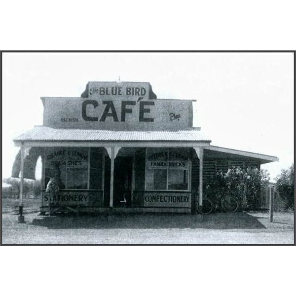 Blue Bird Cafe, Julia Creek, Queensland, c.1948.