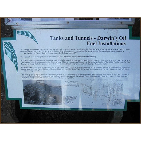 Tourist Information sign at the Tunnel Entrance