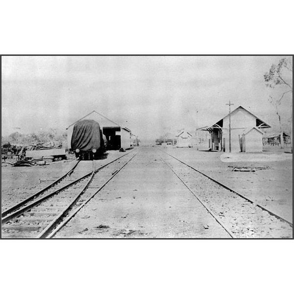 Blackwater railway station, ca. 1878