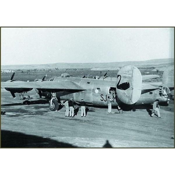 1943, view past the B-24  'Black Swan' Liberators, across the Corunna Downs Complex