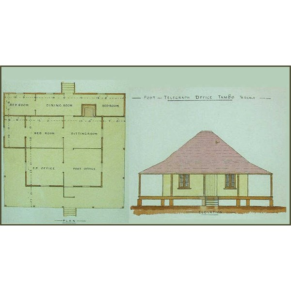 Post Office, Tambo 1885 Plan and Elevation