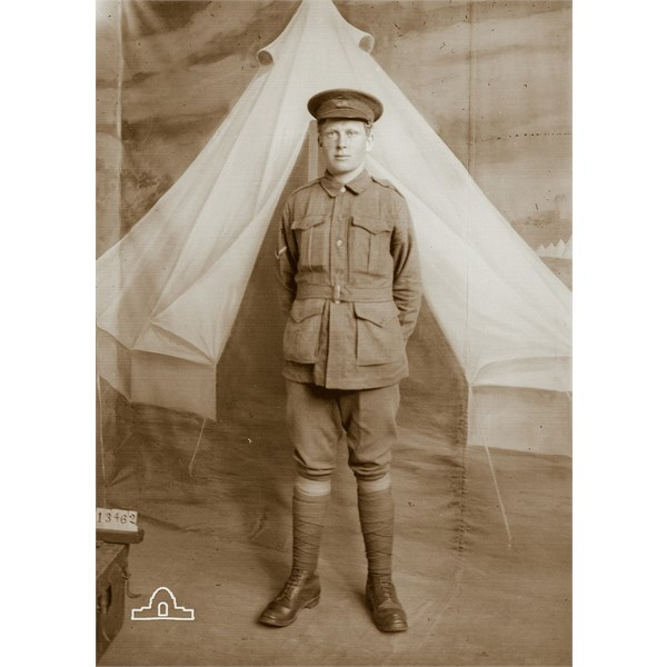 Charles Christian Olsen - taken at Broadmeadows prior to embarkation in 1916